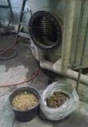 kalk fra renset varmtvandsbeholder