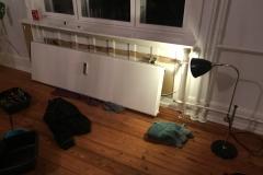 sprængt radiator, afmonteret