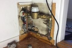 udskiftet ventil i væg